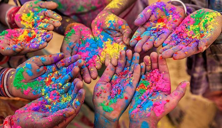 Índia com Festival das Cores